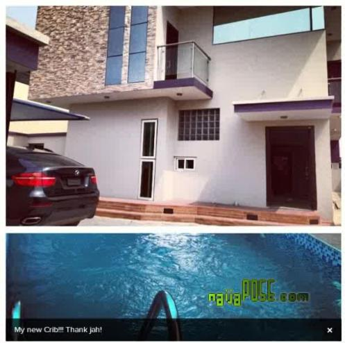 this wizkid crib with a pool and parkink space
